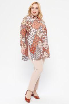 Pantalon Grande Taille Çağrı Giyim Couleur Pierre(109006135)