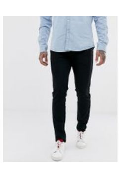 Selected Homme - Schmale Jeans aus Bio-Baumwolle in verwaschenem Schwarz - Schwarz(95026793)