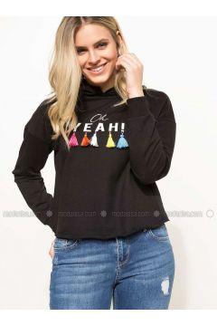 Black - Sweat-shirt - DeFacto(110334739)