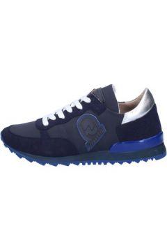 Baskets Invicta sneakers bleu textile daim AB54(88470020)