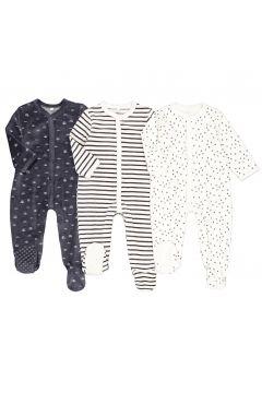 Lote de 3 pijamas 1 prenda de terciopelo, de prematuro a 2 años(108523036)