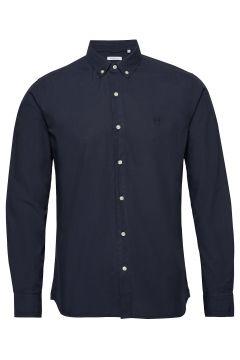 Larch Ls Owl Shirt - Gots/Vegan Hemd Casual Blau KNOWLEDGE COTTON APPAREL(114153901)