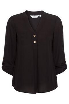 DP Petite Black Roll Sleeve Shirt(111100676)