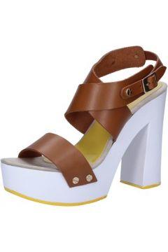 Sandales Suky Brand sandales marron cuir AB298(88470042)