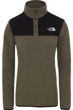 THE NORTH FACE TKA Glacier Snap Neck Fleece Pullover new taupe green/tnf black(107965928)