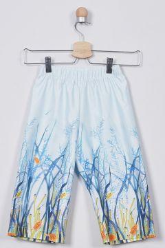 Pantalons Pour Fille Panço Bleu(109327868)