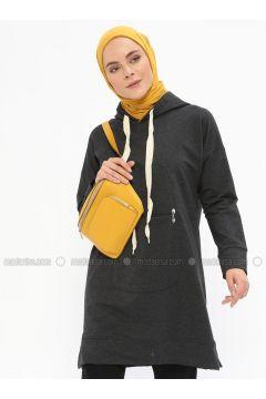 Cotton - Smoke-coloured - Sweat-shirt - İLMEK TRİKO(110321764)
