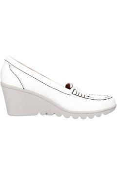 Chaussures Keys mocassins blanc cuir verni AG785(115393540)