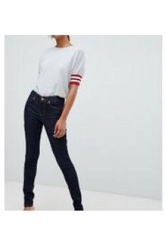 Oasis - Jeans skinny lavaggio grezzo con cuciture a contrasto-Blu(112790596)