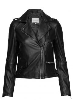 Josita Leather Jacket Lederjacke Schwarz ANDIATA(108839455)