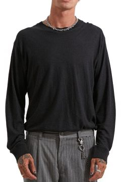 T-Shirt à Manche Longue Afends Living Hemp Retro Fit - Black(114065412)