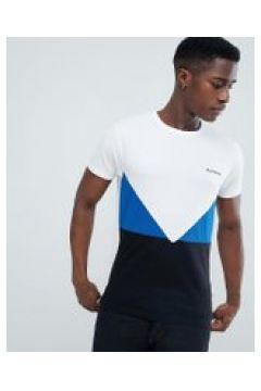 D-Struct - T-Shirt mit Netzeinsatz und Logo - Schwarz(83110807)