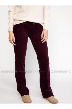 Maroon - Pants - DeFacto(110325616)