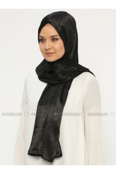 Black - Plain - Shawl - Silk Home(110314454)
