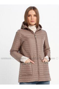 Beige - Fully Lined - Puffer Jackets - Sementa(110336945)