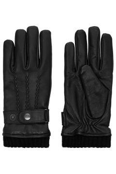 JACK & JONES Lädersydda Handskar Man Svart(96910846)
