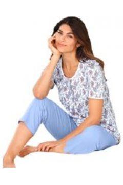 Bomullspyjamas med kvinnligt paisleytryck och k...(112297257)