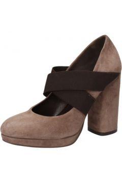 Chaussures escarpins Silvia Rossini escarpins beige daim marron textile AD487(115394072)