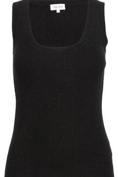 Rib Tank Top Top Ärmellos Shirt Schwarz DAVIDA CASHMERE(104956291)