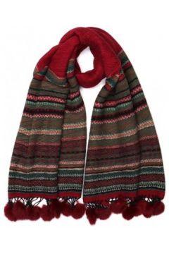 Echarpe Nyls Création Grande echarpe pompon rouge en laine Lyvak(115398706)