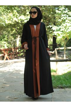 Abaya Melek Aydın Marron / Noir(108581411)