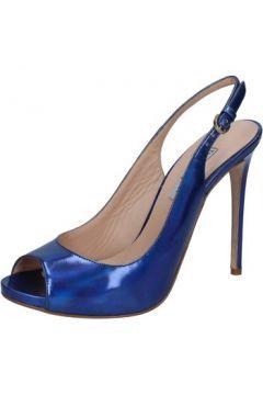 Sandales The Seller sandales bleu cuir brillant BZ322(88470296)
