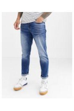 River Island - Enge Jeans in mittelblauer Waschung - Blau(95027591)