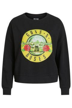 VILA Bedrukt Sweatshirt Dames Zwart(114382447)