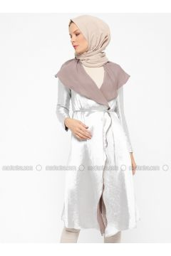 White - Ecru - Unlined - Shawl Collar - Topcoat - ModaNaz(110315008)