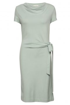 Lily Ecovero Dress Kleid Knielang Grün RESIDUS(109152161)