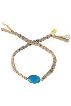 Bracelets Nilaï Cordon en Métal Doré et Turquoise Bleu Femme(115406405)