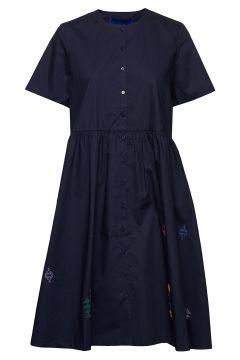 Selma Dress Kleid Knielang Blau RÉSUMÉ(108574275)