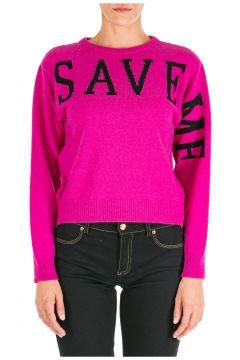 Women's jumper sweater crew neck round save me(116935599)