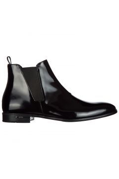 Men's genuine leather ankle boots spazzolato fume(116887714)