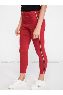 Red - Pants - DeFacto(110325212)