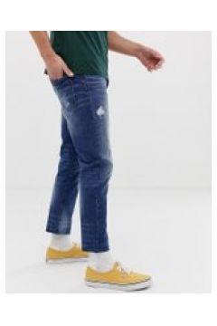United Colors Of Benetton - Kurze Jeans in verwaschenem Mittelblau - Blau(89509181)