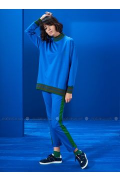 Polo neck - Saxe - Sweat-shirt - Mevra(110333664)