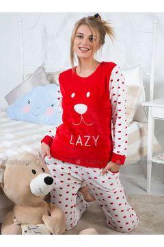 Red - Crew neck - Multi - Pyjama - Strawberry(110318213)