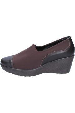 Chaussures Susimoda talons compensé marron textile cuir AC59(115394052)