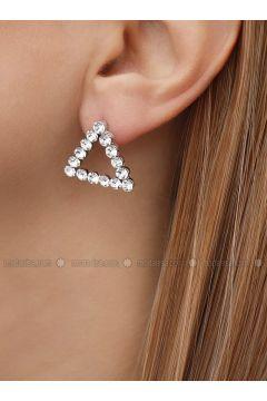 Gray - Earring - Takıştır Bijuteri(110326942)