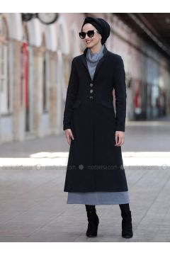 Black - Fully Lined - Shawl Collar - Jacket - Piennar(110333294)