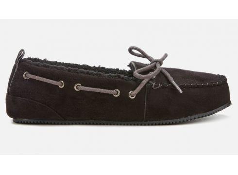 Superdry Men\'s Clinton Moccasin Slippers - Black - S/UK 6-7 - Schwarz(58975493)