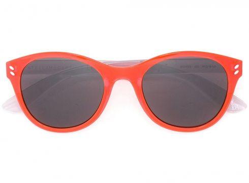 Stella Mccartney Kids lunettes de soleil à monture ovale - Rouge(65478067)
