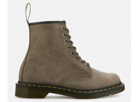 Dr. Martens Men\'s 1460 Dusky Leather 8-Eye Boots - Olive - UK 8 - Grau(78455859)