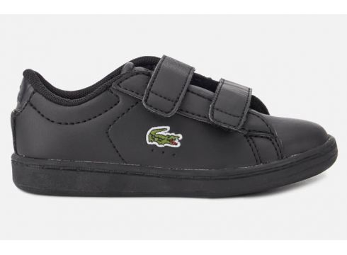 Lacoste Toddler\'s Carnaby Evo 118 4 Velcro Trainers - Black/Black - UK 3 Toddler - Schwarz(53892399)