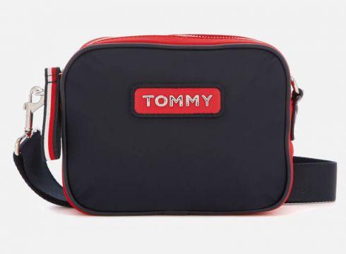 Tommy Hilfiger Women\'s Varsity Nylon Crossover Bag - Corporate(78454162)