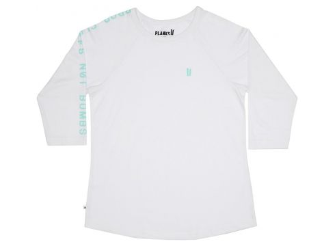 Planks Drop Cliffs Stencil Long Sleeve T-Shirt wit(104309179)