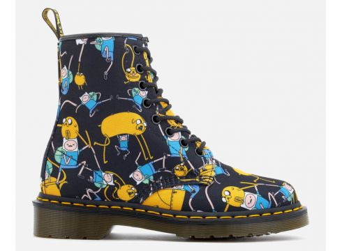 Dr. Martens Toddlers\' Castel Character Canvas Lace Low Boots - Multi - UK 4 Toddler - Bunt(50502224)