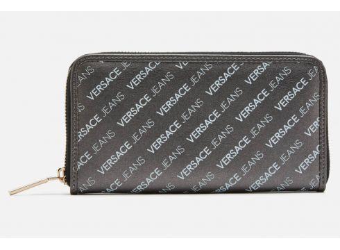 Versace Jeans Women\'s Large Zip Around Wallet - Black(86447363)