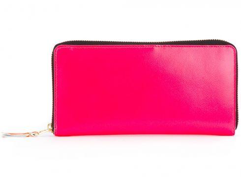 Comme Des Garçons Wallet portefeuille zippé - Rose(65497092)